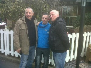 Paul Pitt, Shane Calvert and Tony Curtis yesterday