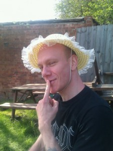 Broxtowe organiser, David Wright, gets into disguise