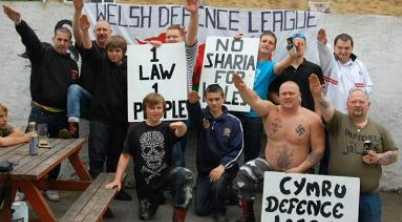 Casuals United leader Jeff Marsh's Welsh Defence League: very tolerant of Jews