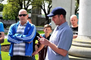 EDL march organiser, Jay Clark