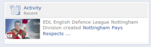 "Further evidence that ""memorial"" events were an EDL front"
