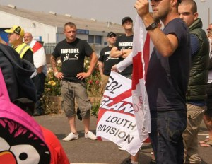 Louth EDL and a muppet: Which is which?